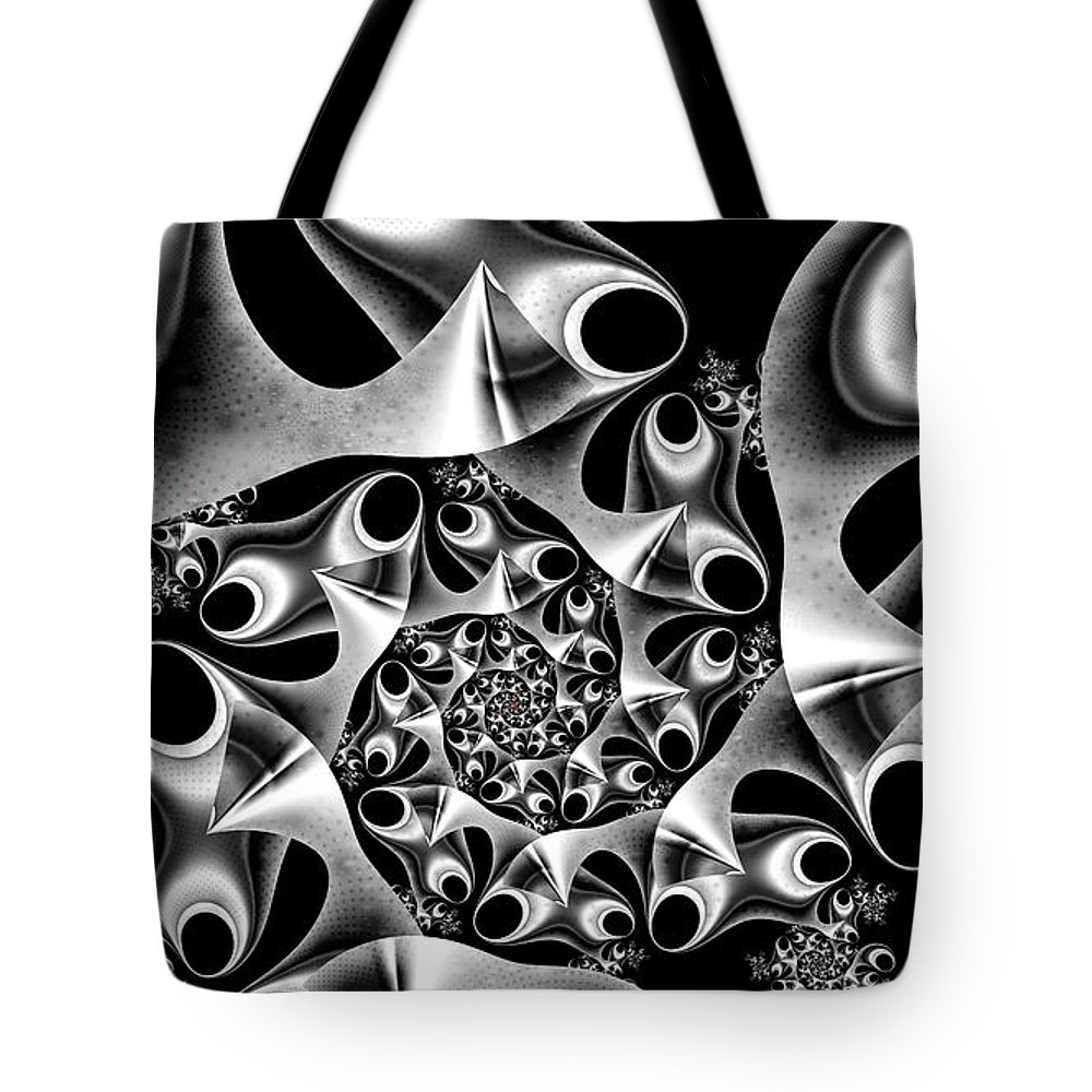 Mechanica Tote Bag featuring the digital art Mechanica by Kimberly Hansen