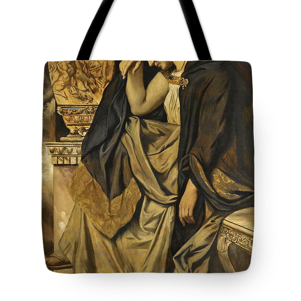 medea at the urn tote bag for sale by anselm feuerbach. Black Bedroom Furniture Sets. Home Design Ideas