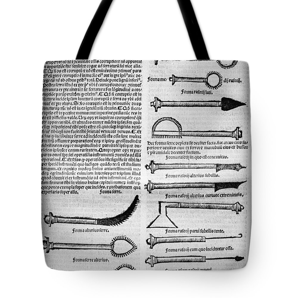 10th Century Tote Bag featuring the photograph Medical Instruments, 1531 by Granger