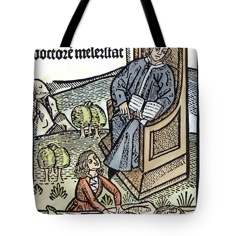 15th Century Tote Bag featuring the photograph Medical Teaching, 1487 by Granger