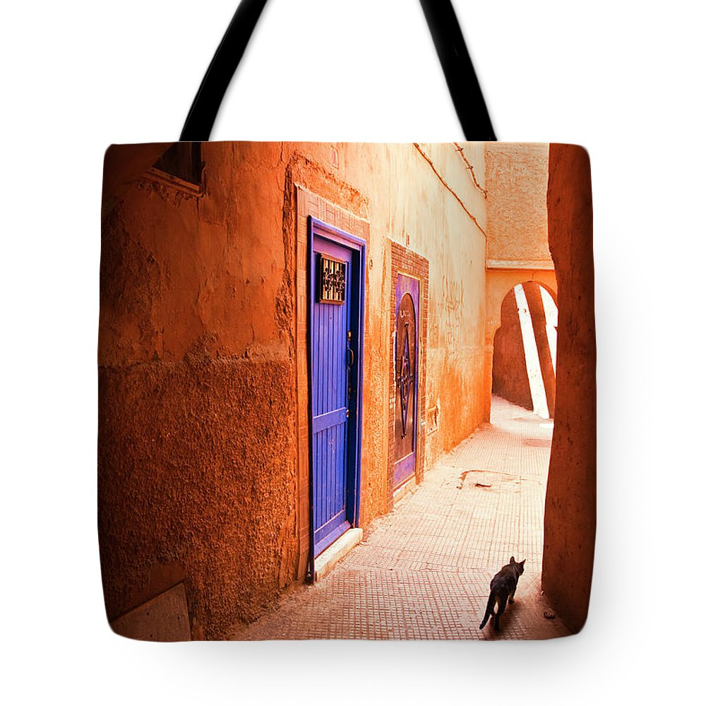 Arch Tote Bag featuring the photograph Medina Of Marrakesh by Moreiso
