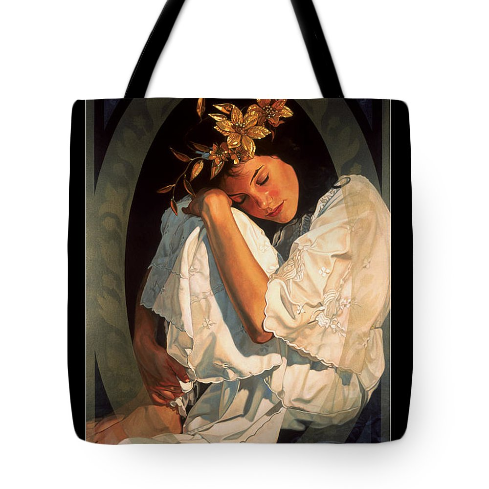 Michael Jackson Tote Bag featuring the painting Meditations by Patrick Whelan