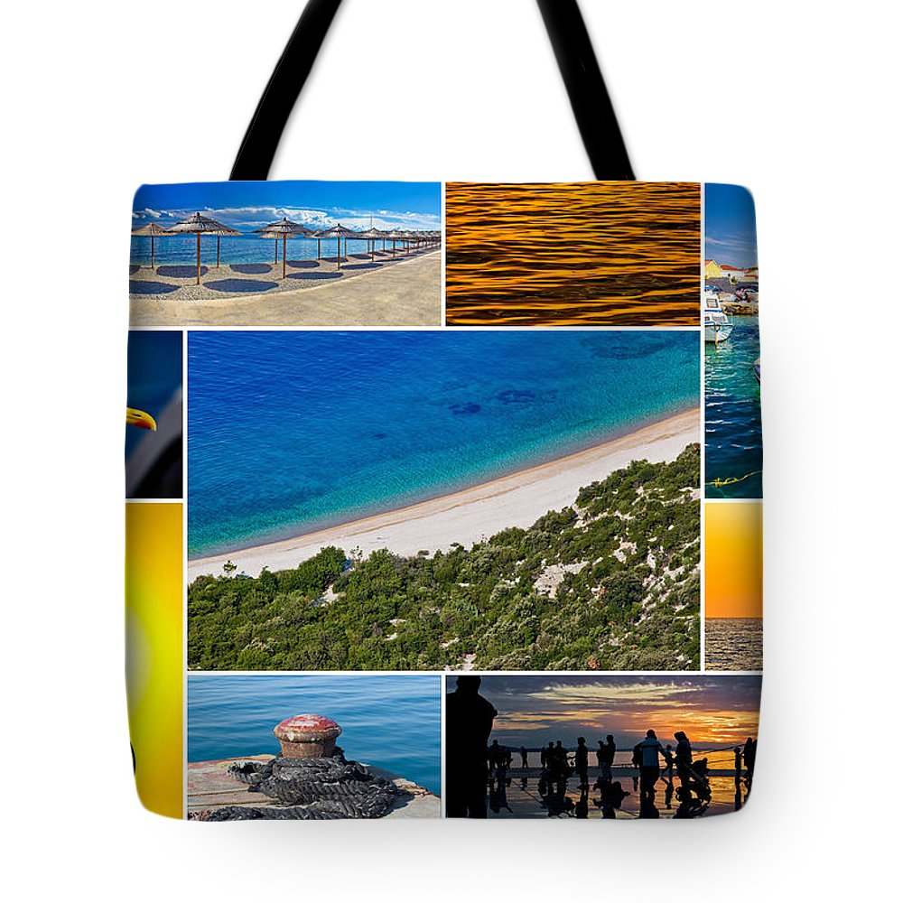 Mediterranean Tote Bag featuring the photograph Mediterranean Coast Collage by Brch Photography