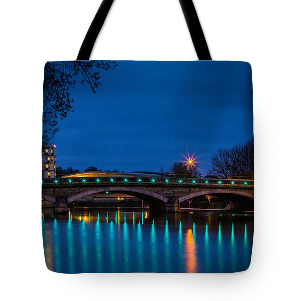 Maidstone Bridge Tote Bag featuring the photograph Medway Bridge by Dawn OConnor