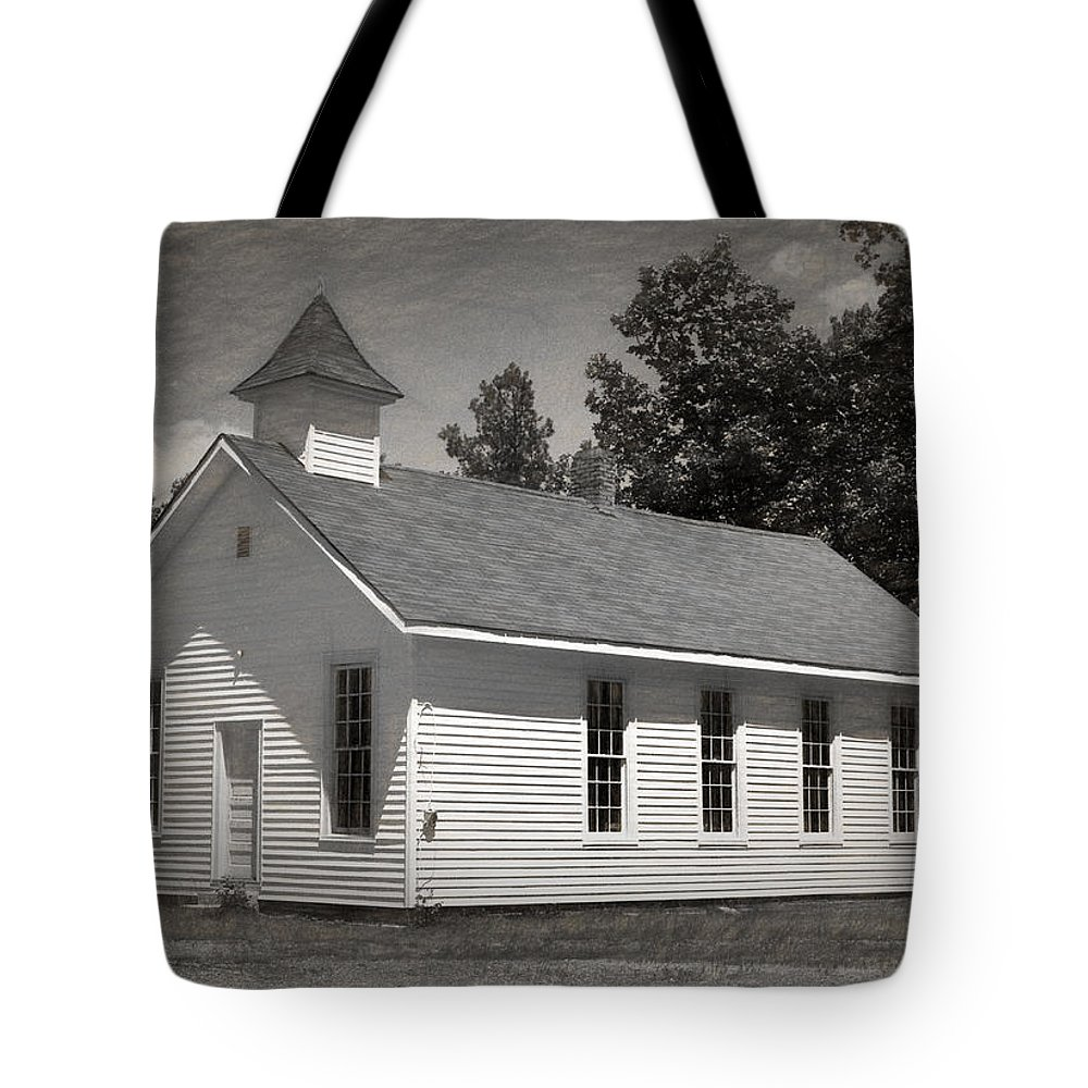 Abandoned Tote Bag featuring the photograph Meeting House by Richard Rizzo