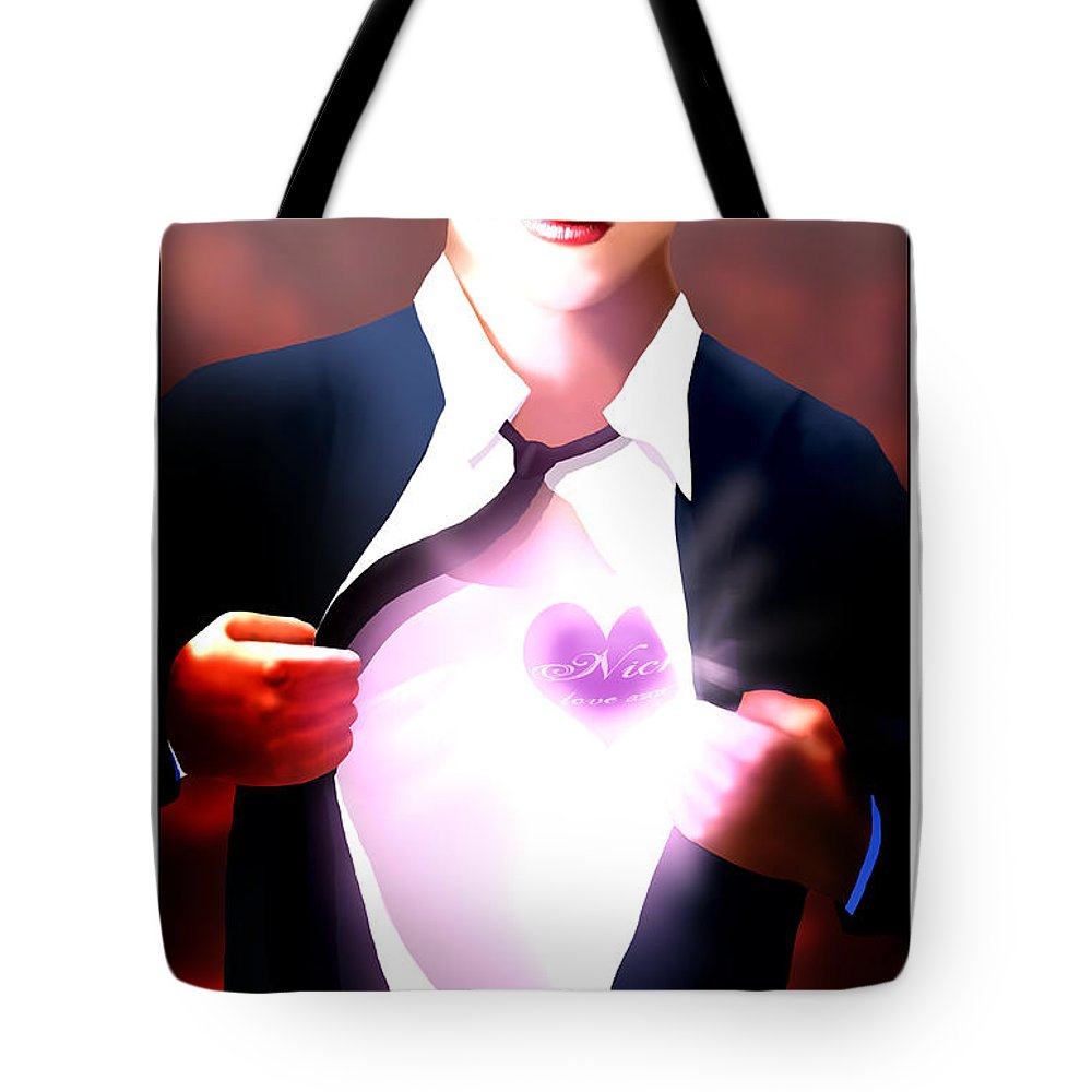 Mel Bossa Tote Bag featuring the painting Mel Bossa's Red Awakening Book Cover Art by Trachenberg Trachenberg