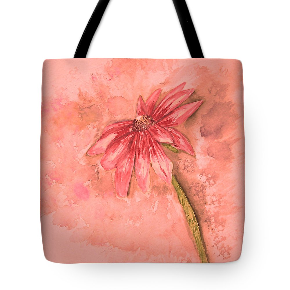 Watercolor Tote Bag featuring the painting Melancholoy by Crystal Hubbard