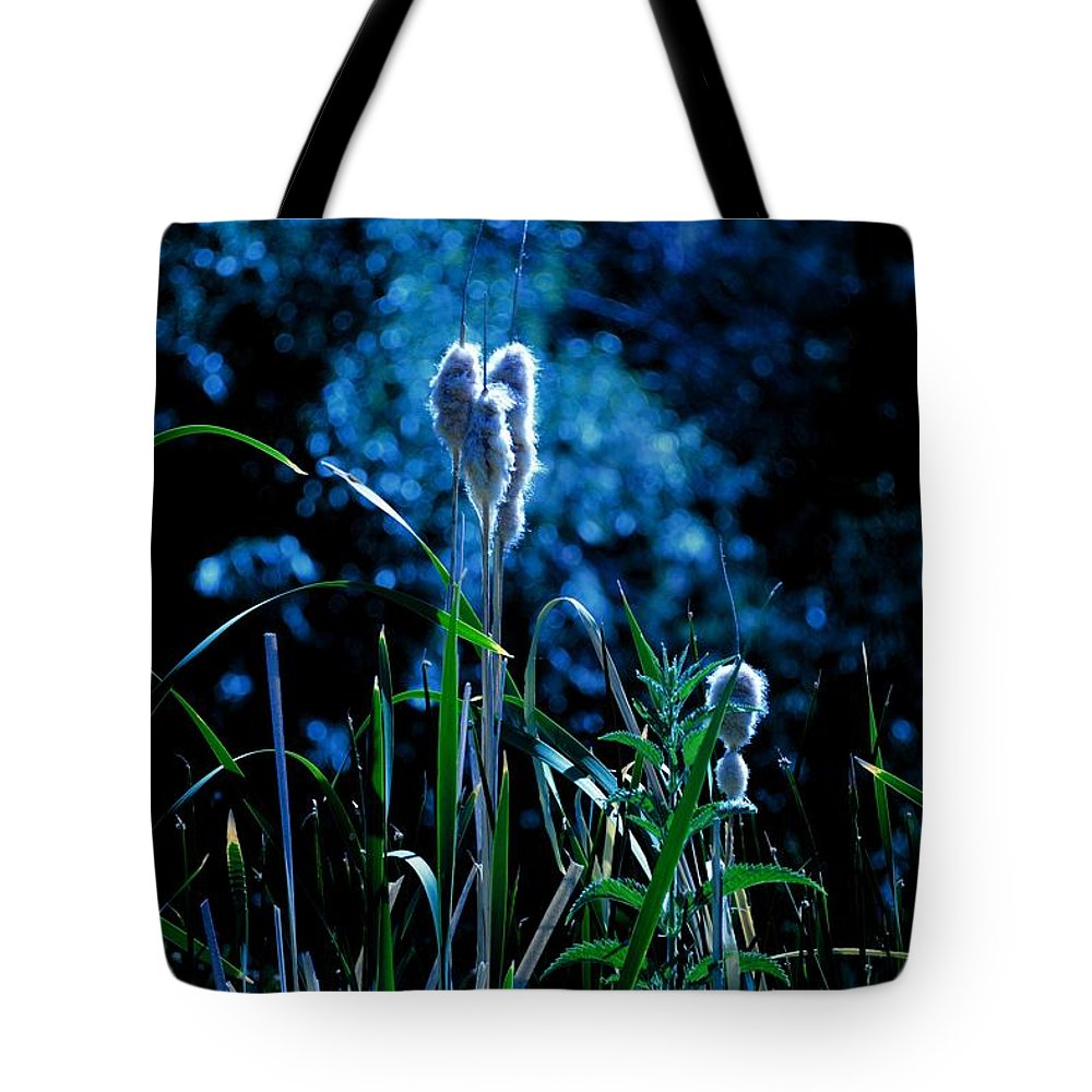 Melba Tote Bag featuring the photograph Melba Cattails by Image Takers Photography LLC