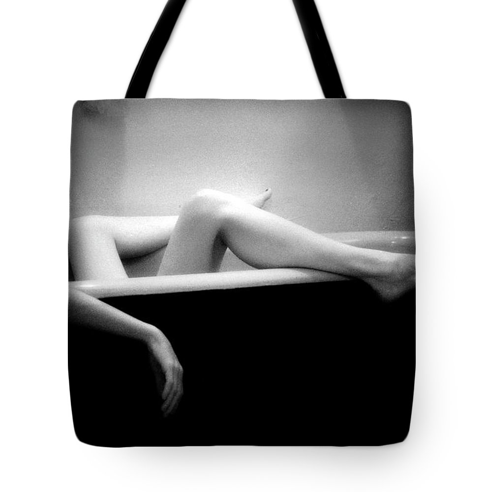 Female Nude Tote Bag featuring the photograph Melting by Lindsay Garrett
