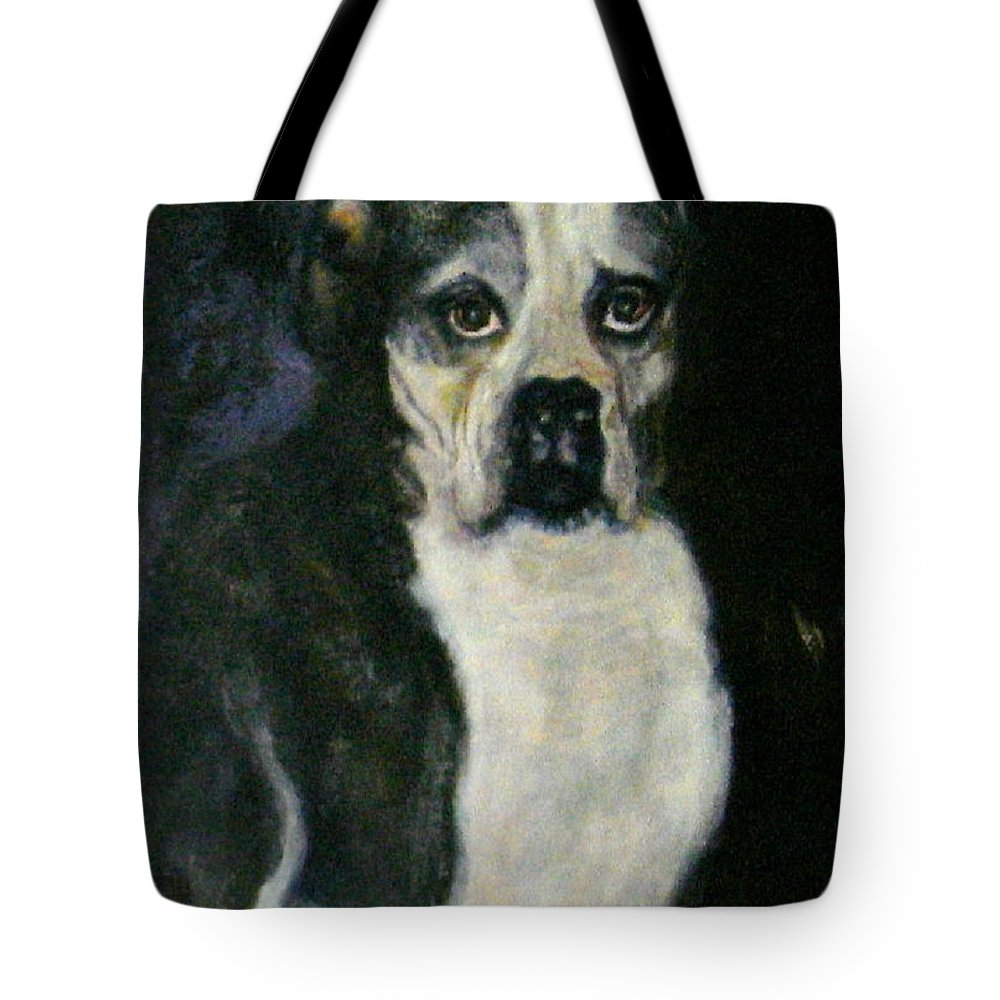 Dog Tote Bag featuring the painting Member Of A Family by Sylva Zalmanson