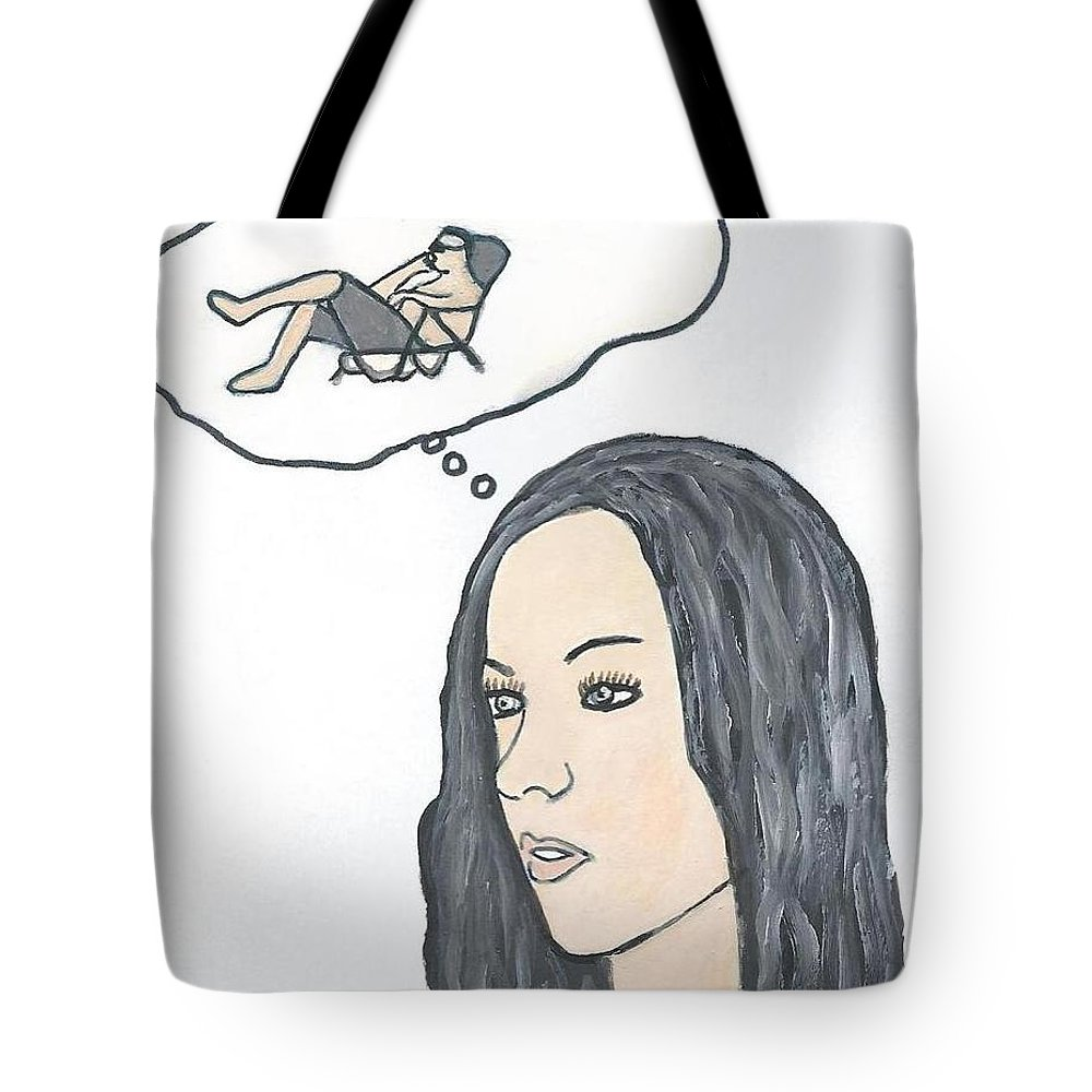 Woman Tote Bag featuring the drawing Memories by Magdalena Frohnsdorff