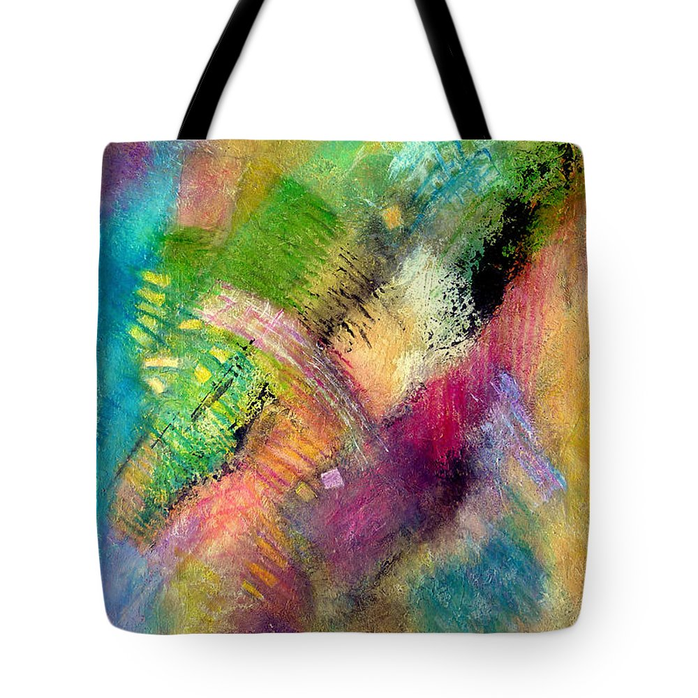 Abstract Tote Bag featuring the painting Memories Of My Youth #2 by Jim Whalen