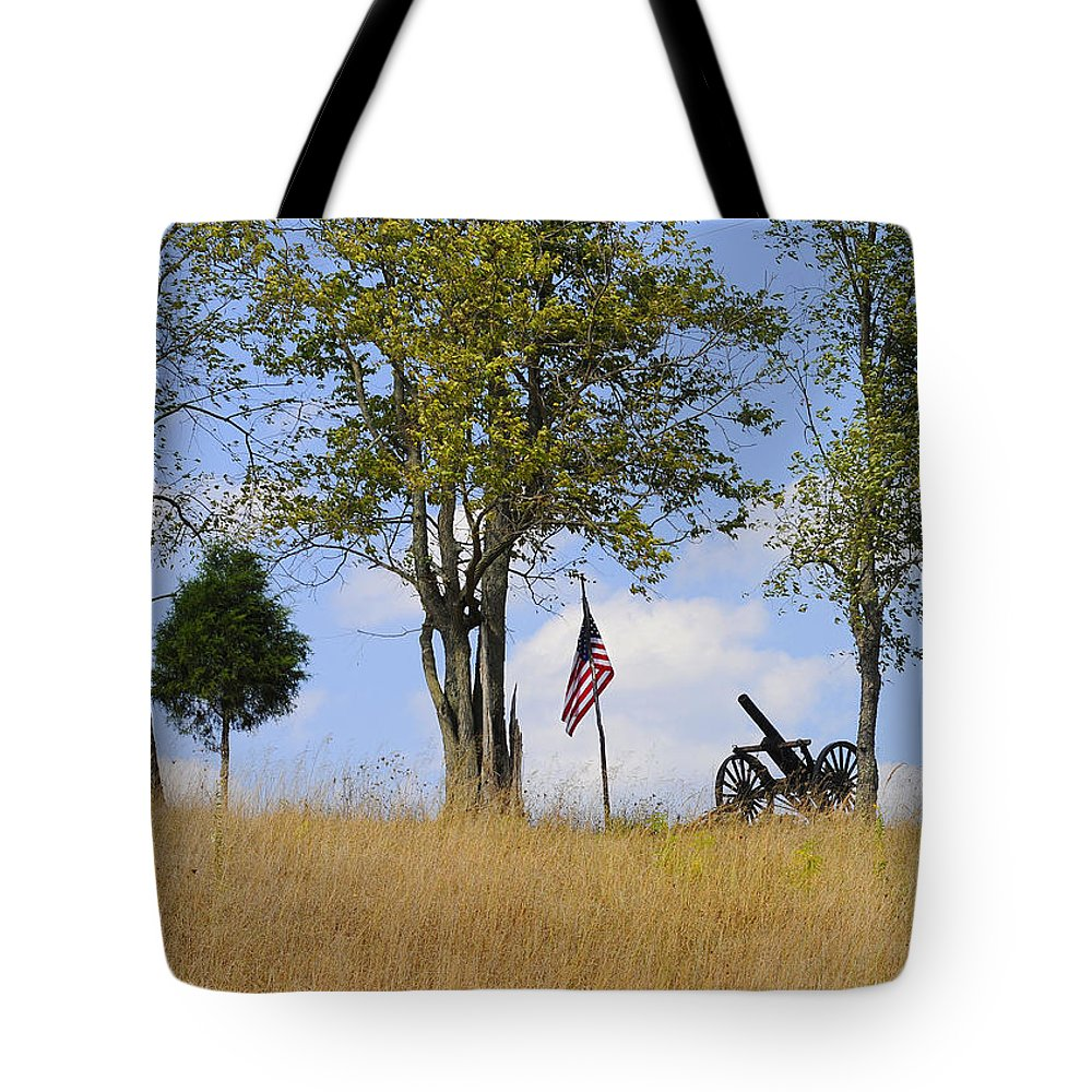 Memory Tote Bag featuring the photograph Memory 150 Years Later by Randall Branham