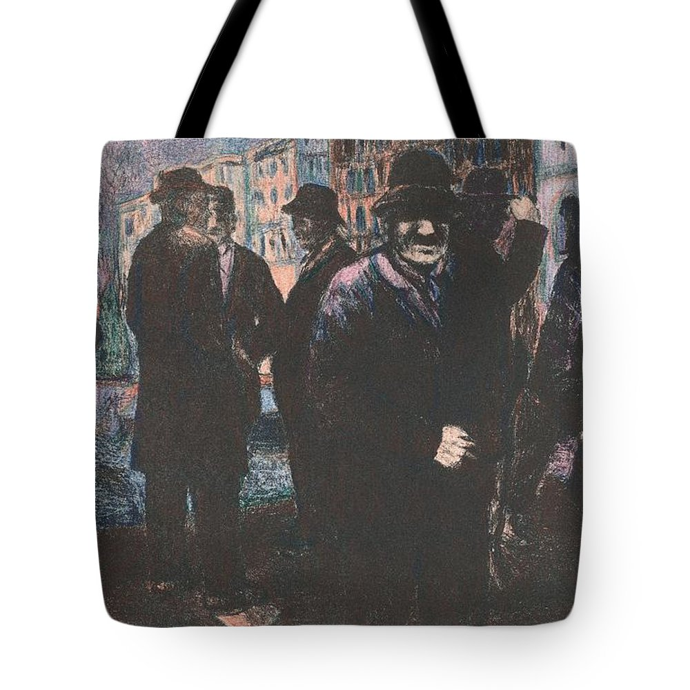 Men Tote Bag featuring the drawing Men by Kendall Kessler