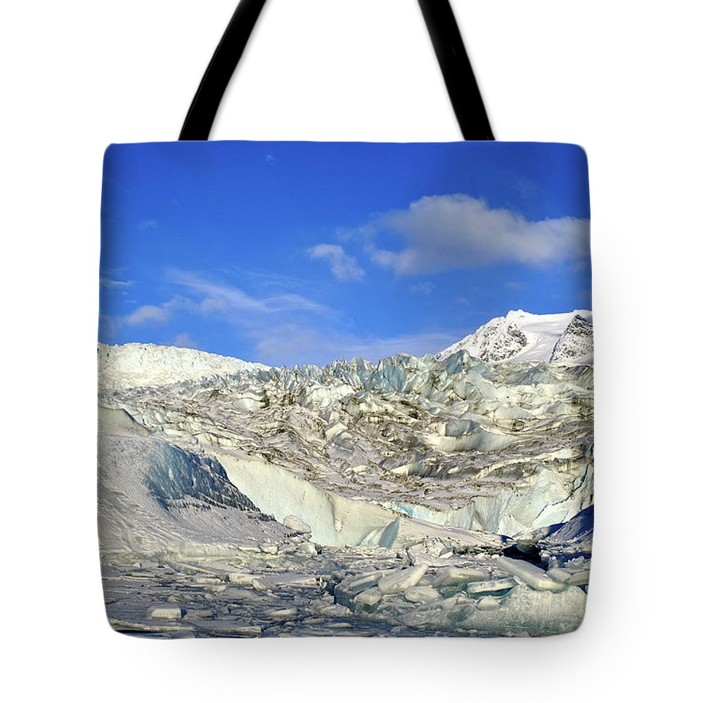Glacier Tote Bag featuring the photograph Mendenhall Glacier by Cathy Mahnke