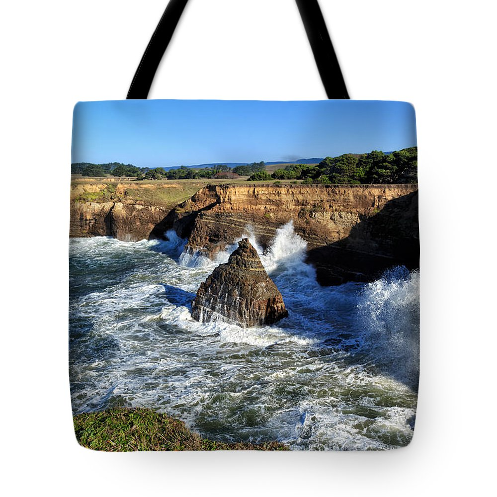 Ocean Tote Bag featuring the photograph Mendocino Coast by Kathleen Bishop