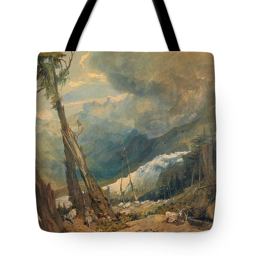 1803 Tote Bag featuring the painting Mer De Glace by JMW Turner