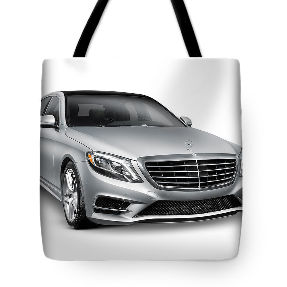 Mercedes-benz Tote Bag featuring the photograph Mercedes-benz S550 4matic Luxury Car by Oleksiy Maksymenko