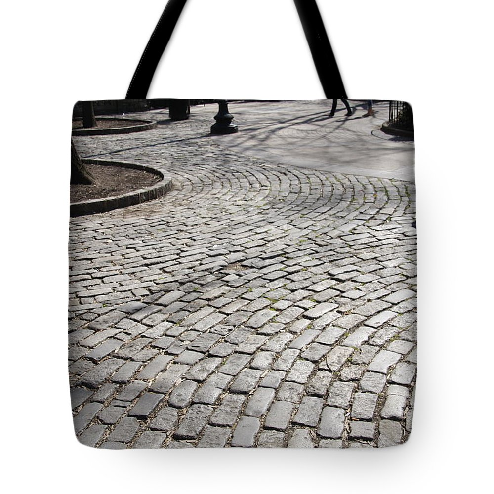 Walk Tote Bag featuring the photograph Merging Walkways by Debby Zimmerman