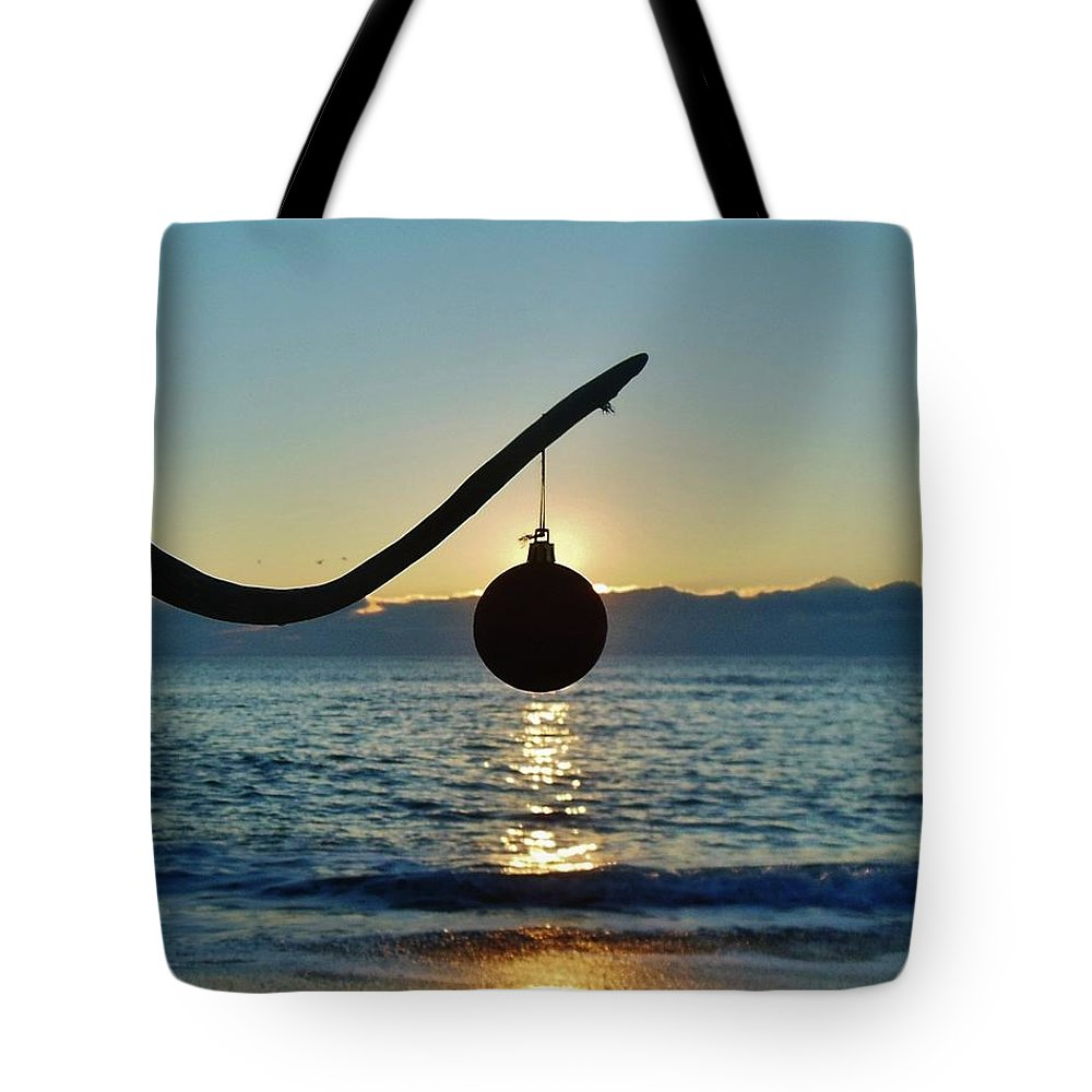 Mark Lemmon Cape Hatteras Nc The Outer Banks Photographer Subjects From Sunrise Tote Bag featuring the photograph Merry Christmas Ornament 8 12/17 by Mark Lemmon