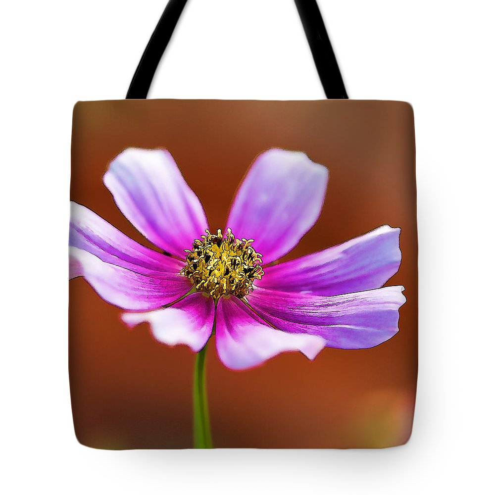 Cosmos Tote Bag featuring the photograph Merry Cosmos Floral by Kathy Clark
