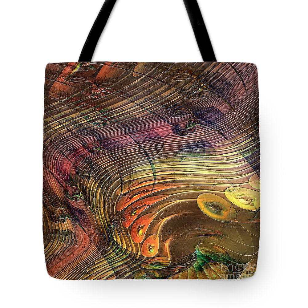 Merry Melody Tote Bag featuring the digital art Merry Melody - Square Version by John Beck