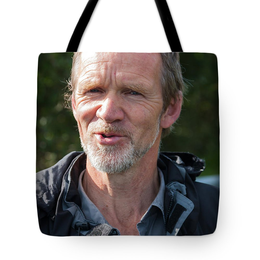 County Donegal Tote Bag featuring the photograph Mervyn Of Moville Ireland by James Gordon Patterson