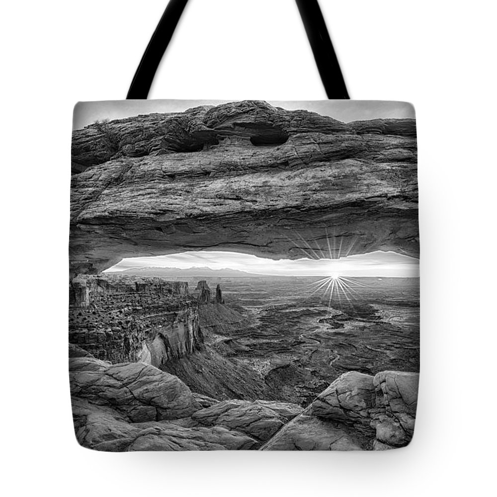 Moab Tote Bag featuring the photograph Mesa Arch Sunrise by Stacy White