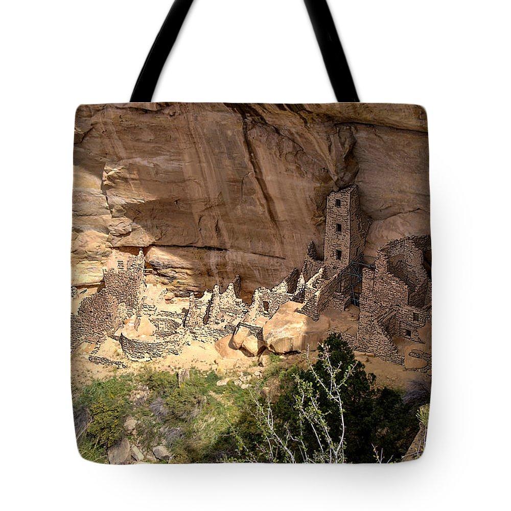 Mesa Verde National Park Tote Bag featuring the photograph Mesa Verde National Park 1 by Paul Cannon