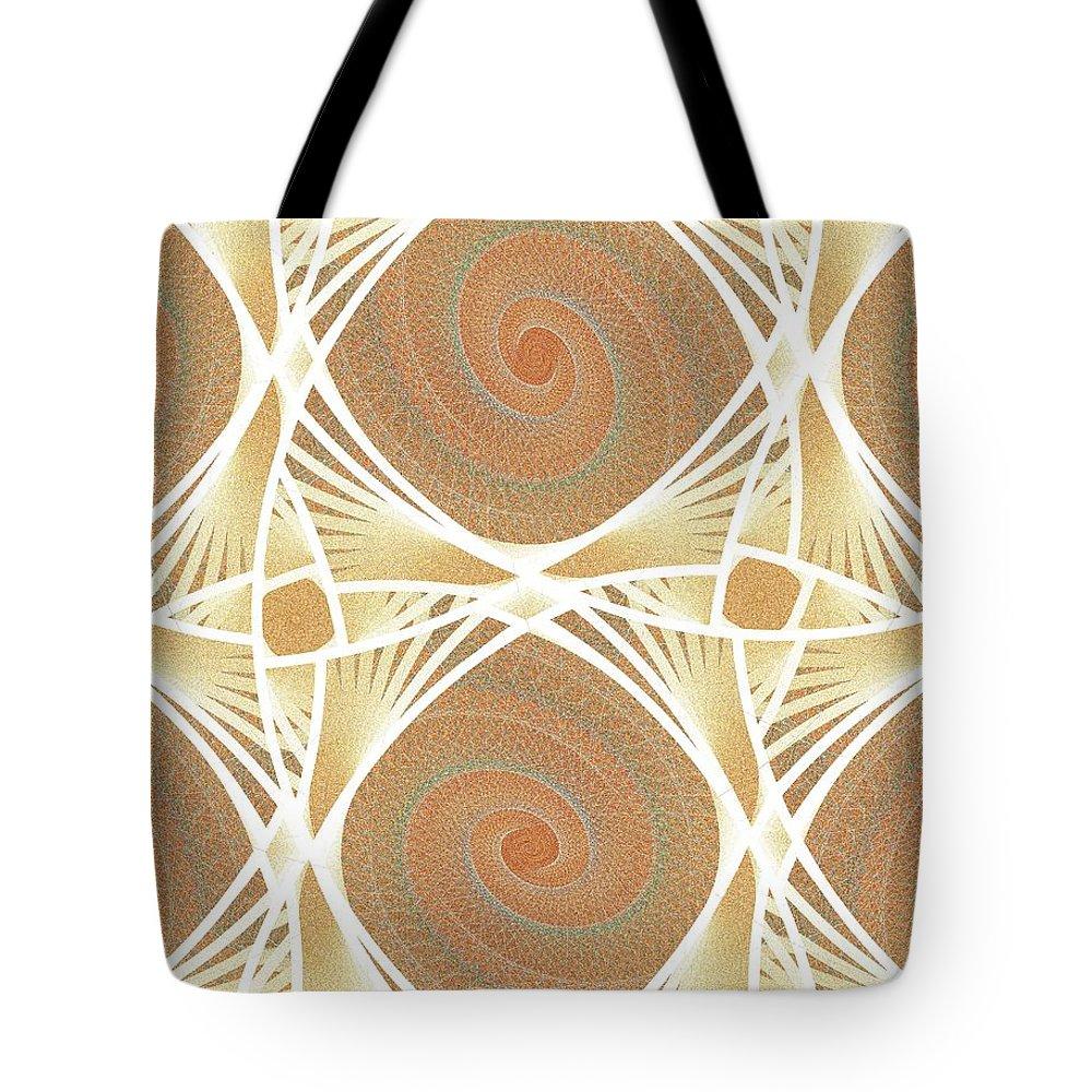 Netting Tote Bag featuring the digital art Mesh by Anastasiya Malakhova