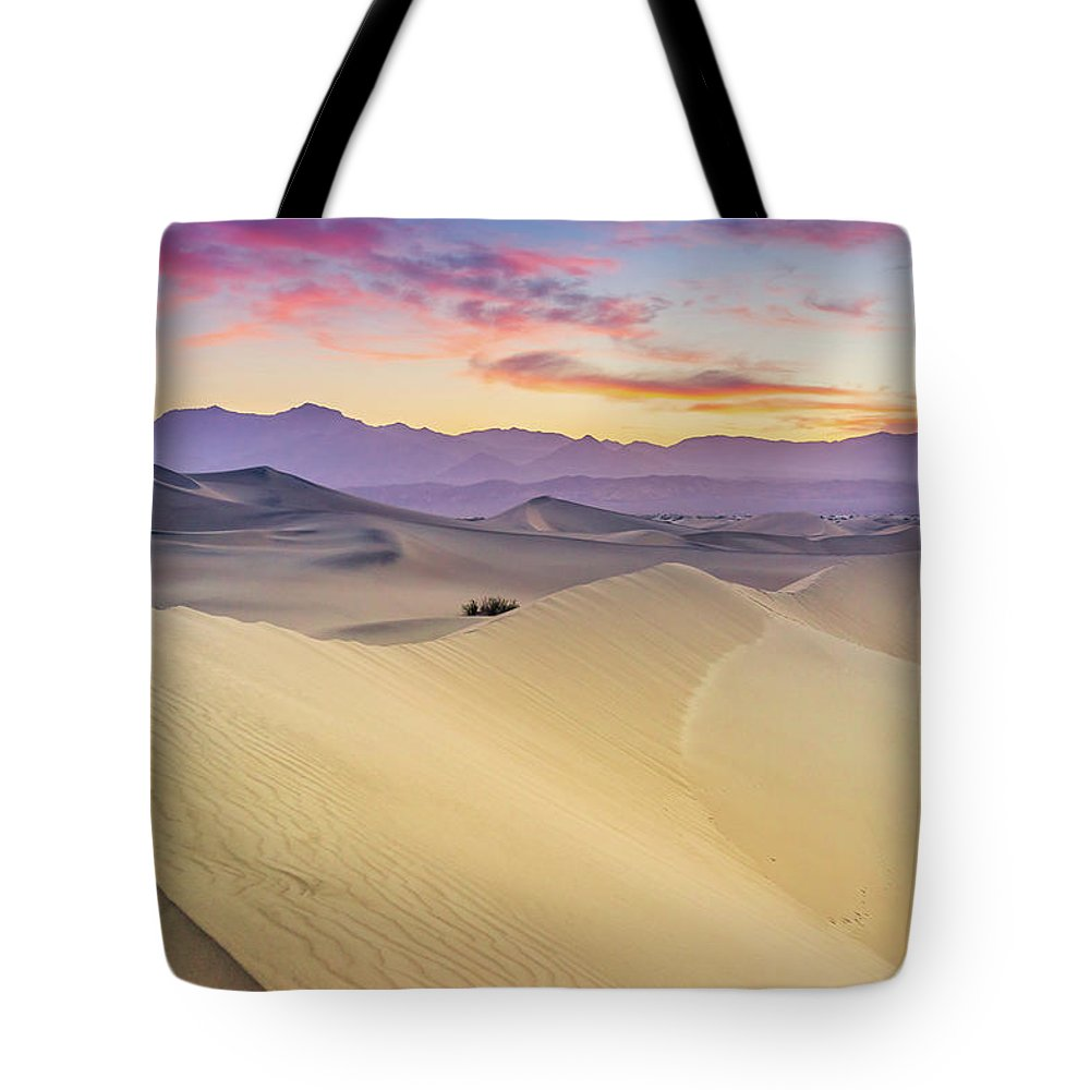 Tranquility Tote Bag featuring the photograph Mesquite Flat Sand Dunes by Zx1106