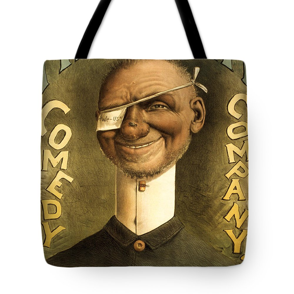 Entertainment Tote Bag featuring the drawing Mestayer Comedy Company by Aged Pixel