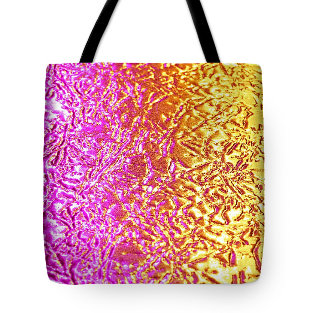 Abstract Background Texture Design Shape Light Pattern Tote Bag featuring the photograph Metal Abstract by Tony Cordoza