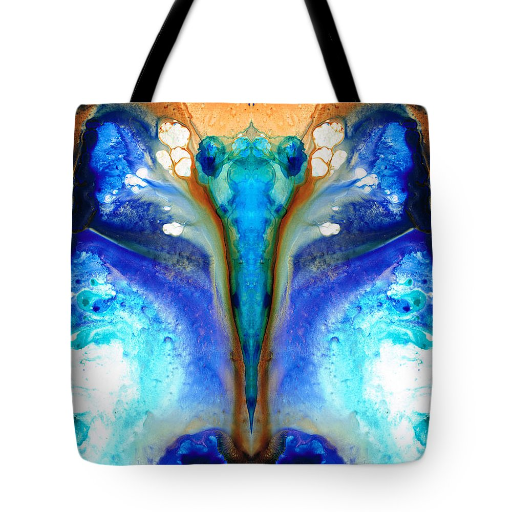 Abstract Tote Bag featuring the painting Metamorphosis - Abstract Art By Sharon Cummings by Sharon Cummings