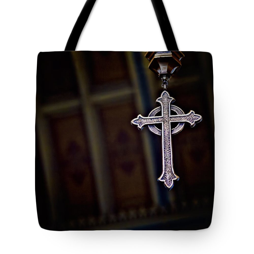 Cross Tote Bag featuring the photograph Methodist Jewelry by Kristi Swift