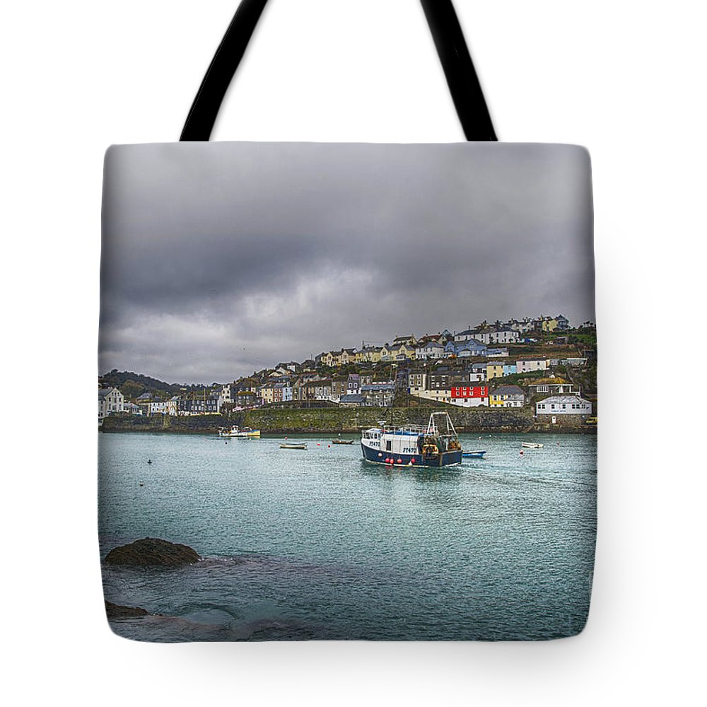 Mevagissey Canvas Tote Bag featuring the photograph Mevagissy Cornwall by Chris Thaxter