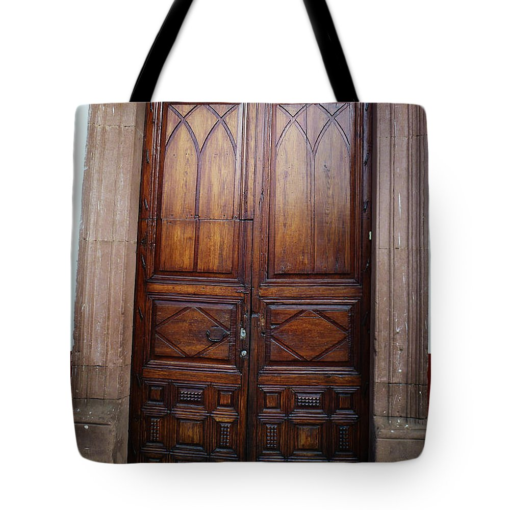 North America Tote Bag featuring the photograph Mexican Door 62 by Xueling Zou