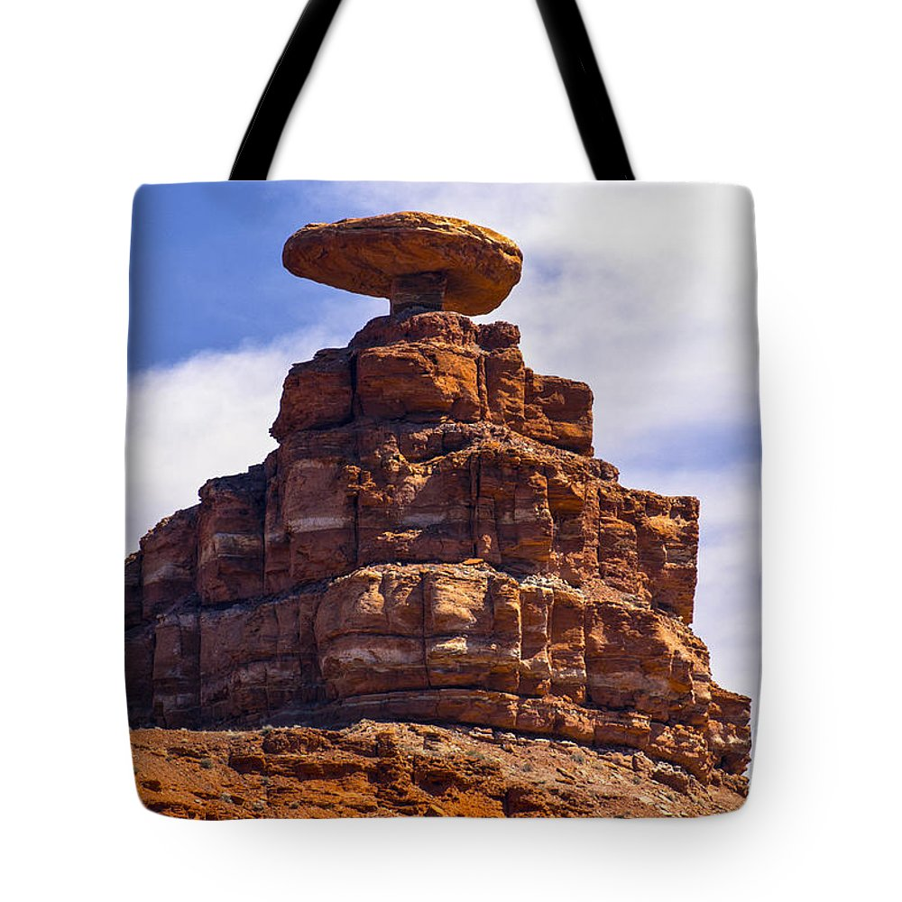 Mexican Hat Utah Red Rock Formation Formations Landscape Landscapes Tote Bag featuring the photograph Mexican Hat by Bob Phillips