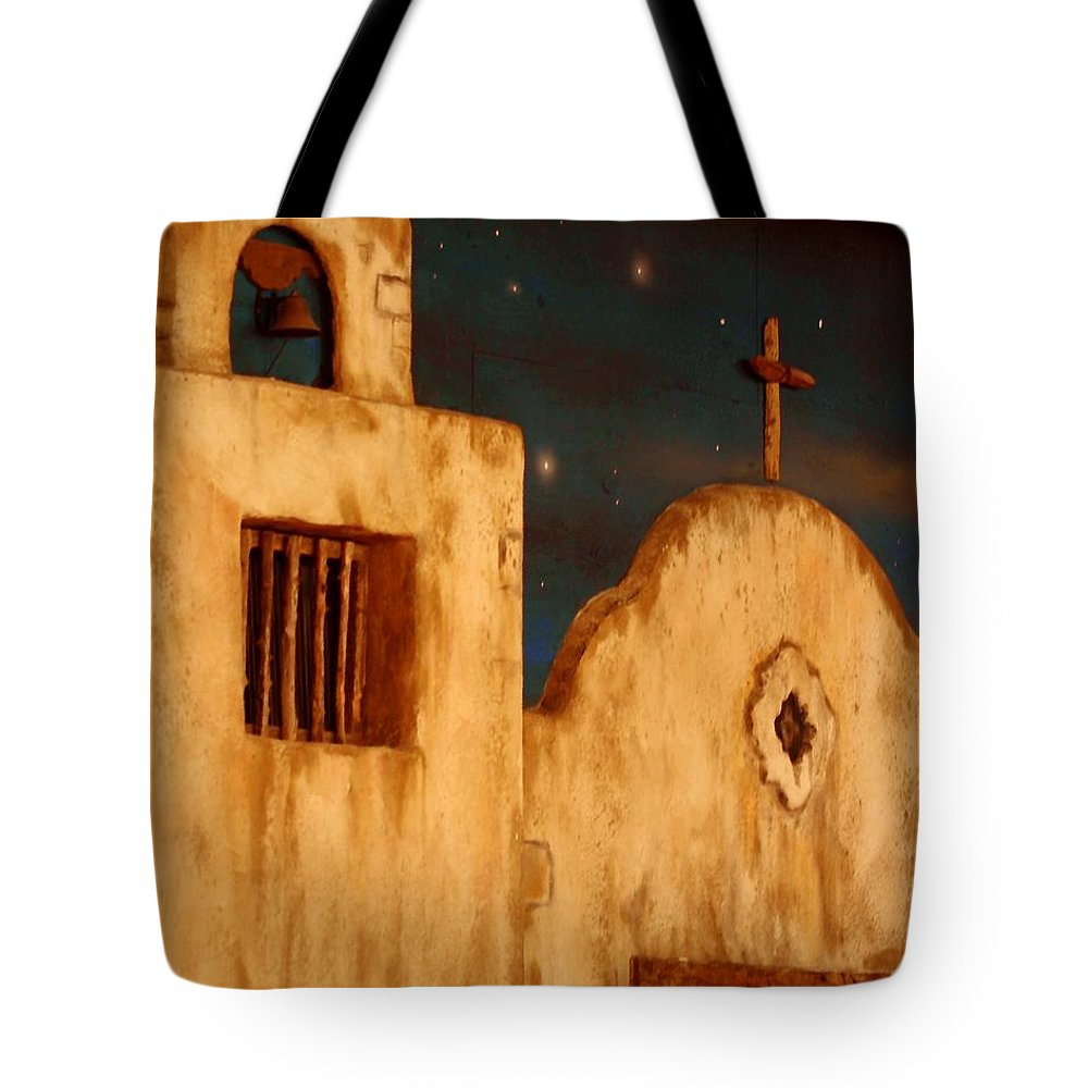 Buildings Tote Bag featuring the photograph Mexican Night by Terry Fleckney