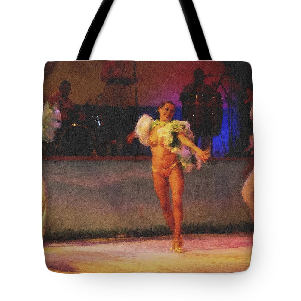 Mexican Tote Bag featuring the photograph Mexican Traditional Dancers by Douglas Barnard