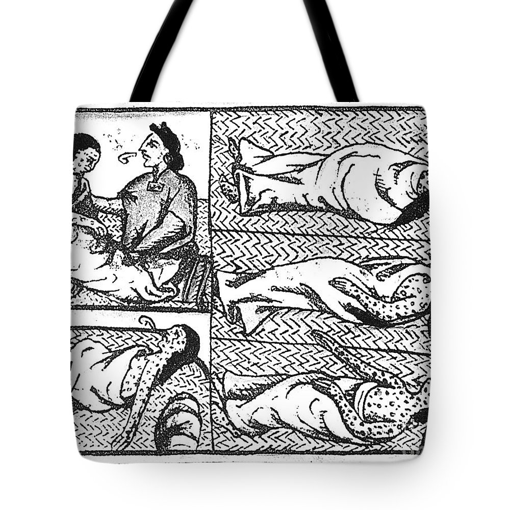 16th Century Tote Bag featuring the photograph Mexico: Smallpox Epidemic by Granger