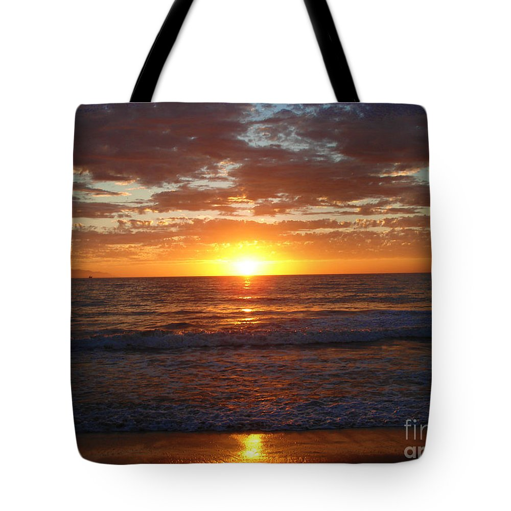 Ocean Tote Bag featuring the photograph Mexico Sunset by Crystal Joy Photography