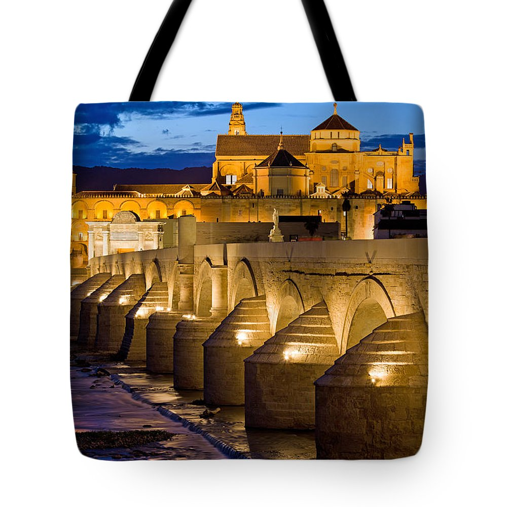 Cordoba Tote Bag featuring the photograph Mezquita Cathedral In Cordoba by Artur Bogacki