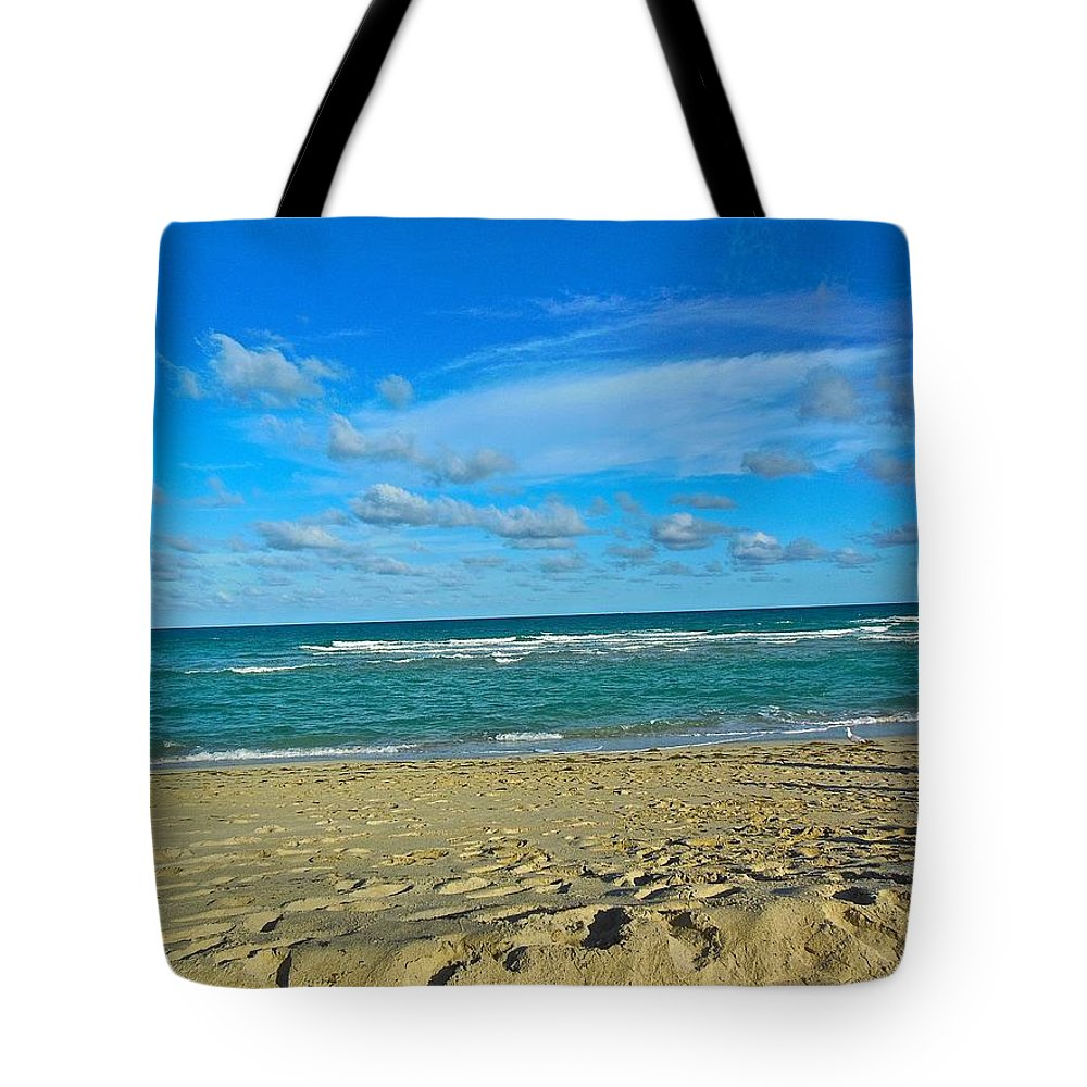 Miami Beach Tote Bag featuring the photograph Miami Beach by Joan Reese