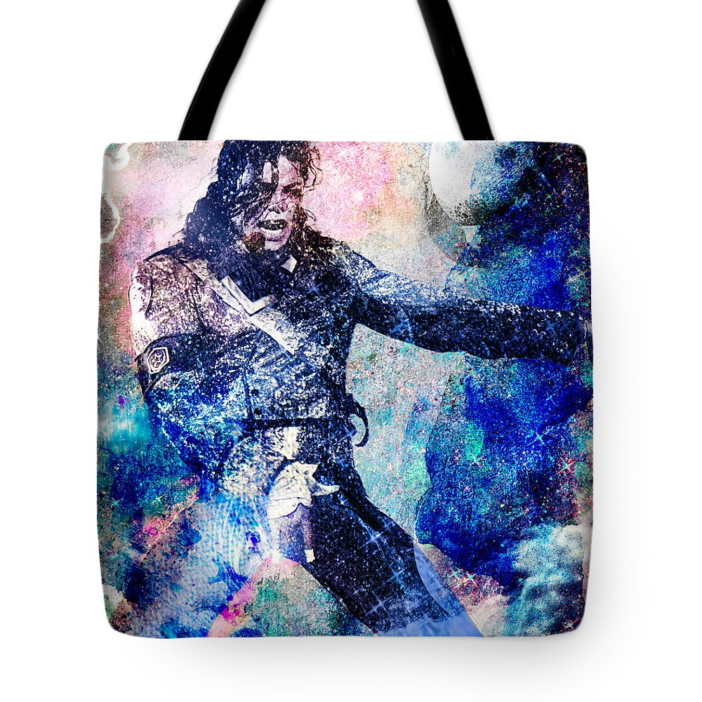 Rock Tote Bag featuring the painting Michael Jackson Original Painting by Ryan Rock Artist