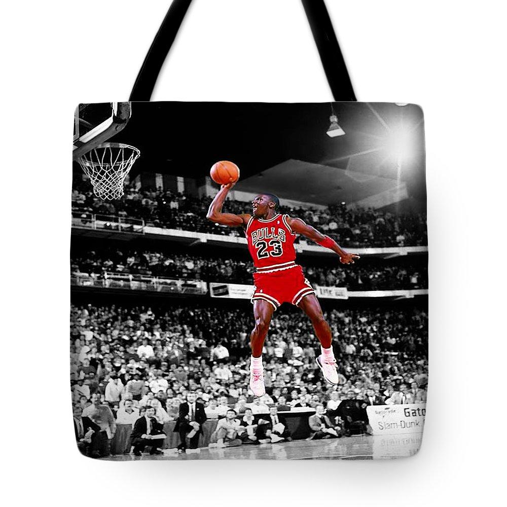 44fa025e3947 Michael Jordan Slam Dunk Contest Tote Bag for Sale by Brian Reaves