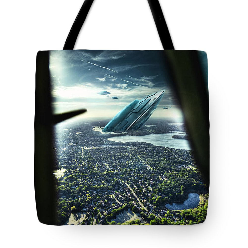 Giant Tiger Tote Bag featuring the photograph Michigan 2050 by Nicholas Grunas