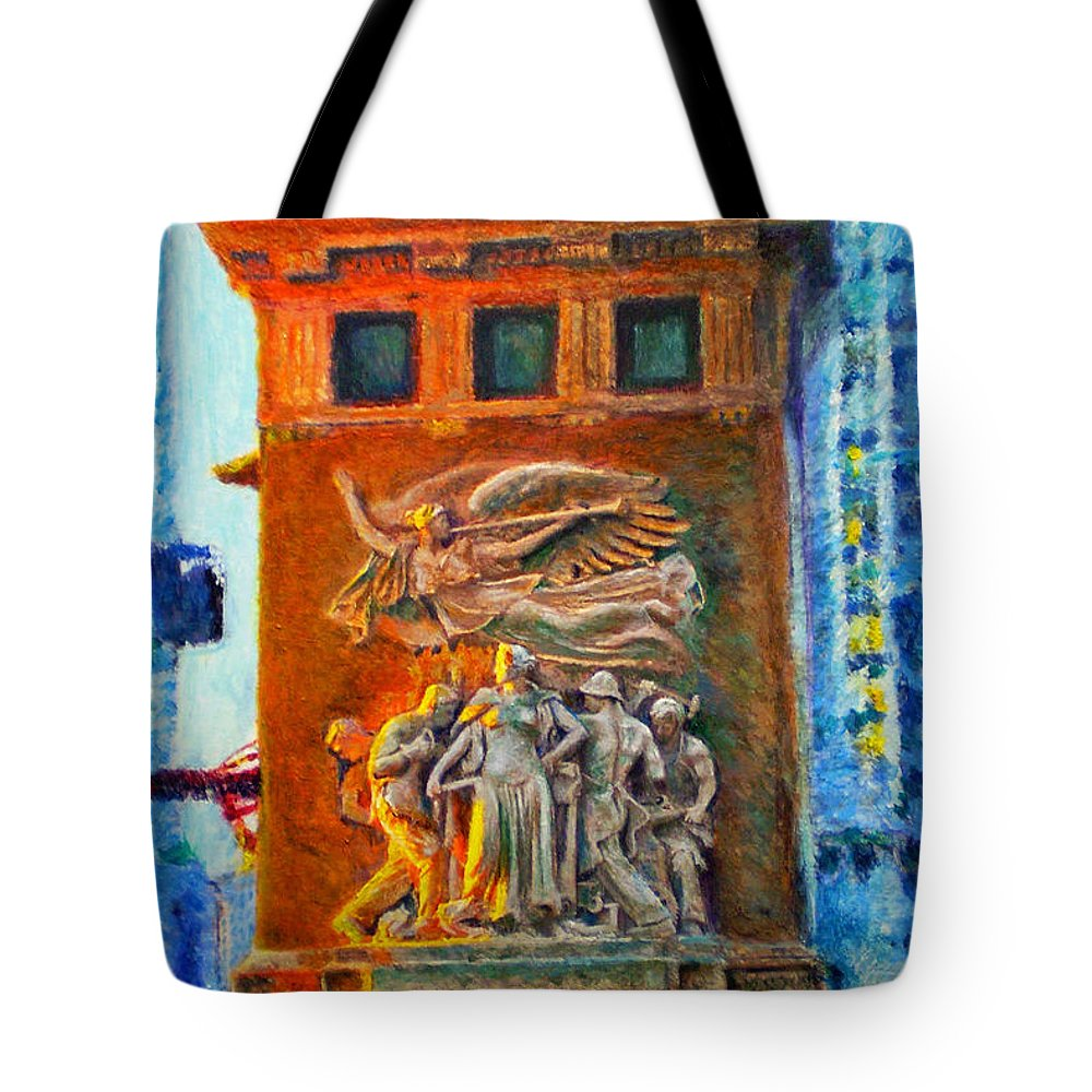 Chicago Tote Bag featuring the painting Michigan Avenue Bridge by Michael Durst