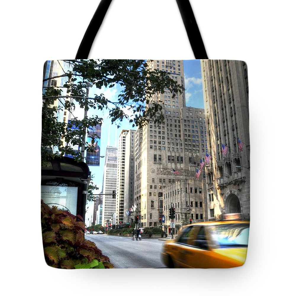 Chicago Tote Bag featuring the photograph Michigan Avenue Chicago Illinois by Patrick Warneka