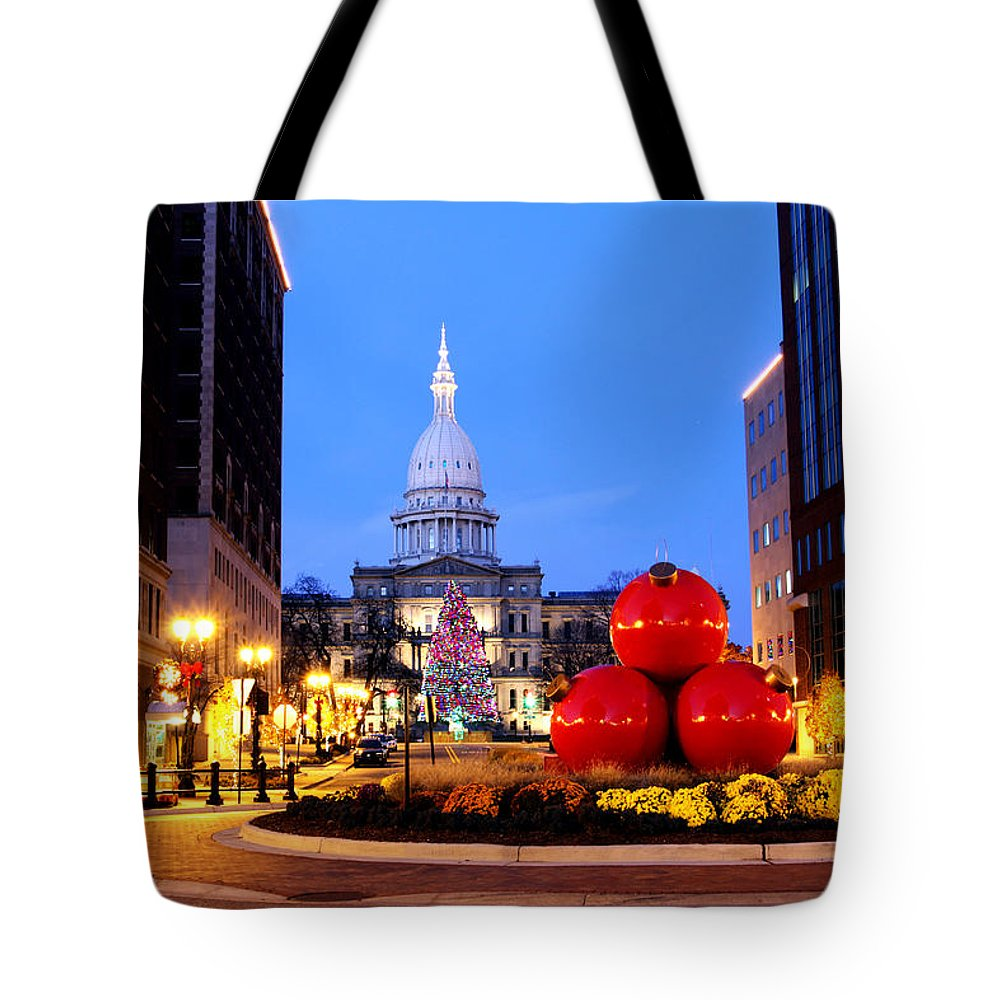 Michigan Tote Bag featuring the photograph Michigan Capital by John McGraw